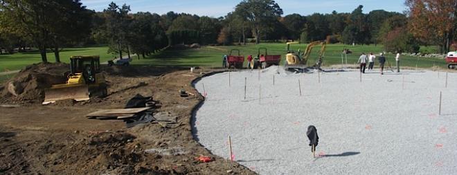 Golf Green construction