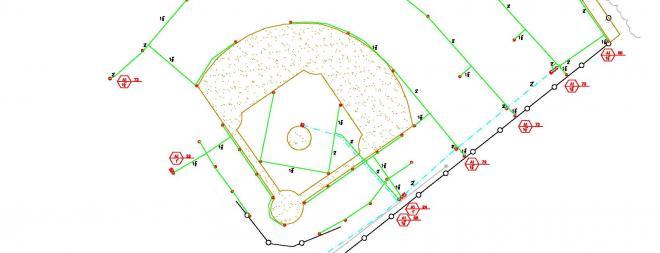 Baseball field irrigation plan