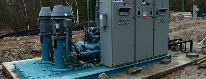 Golf course irrigation pump station