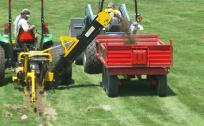 Athletic field drainage trench